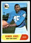 1968 Topps #31  Homer Jones  Front Thumbnail