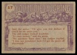 1959 Topps / Bubbles Inc You'll Die Laughing #17   I told you time and again Back Thumbnail