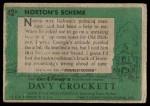 1956 Topps Davy Crockett #42 GRN  Norton's Scheme  Back Thumbnail