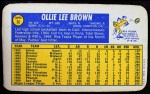 1970 Topps Super #36  Ollie Brown  Back Thumbnail
