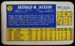 1970 Topps Super #28  Reggie Jackson  Back Thumbnail