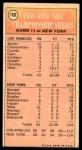 1970 Topps #168   -  Willis Reed  1969-70 NBA Championship - Game 1 Back Thumbnail