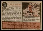 1962 Topps #427  Jake Wood  Back Thumbnail