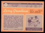 1970 Topps #82  Larry Grantham  Back Thumbnail