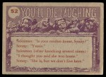 1959 Topps / Bubbles Inc You'll Die Laughing #52   Can I borrow Back Thumbnail