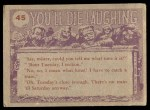1959 Topps / Bubbles Inc You'll Die Laughing #45   Those missionaries Back Thumbnail