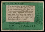 1956 Topps Davy Crockett #50 GRN  The Alamo   Back Thumbnail
