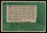 1956 Topps Davy Crockett #67 GRN  Direct Hit  Back Thumbnail