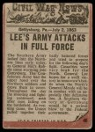 1962 Topps Civil War News #46   Vicious Attack Back Thumbnail