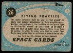1957 Topps Space Cards #26   Flying Practice  Back Thumbnail