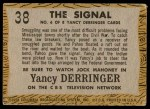 1958 Topps TV Westerns #38   The Signal  Back Thumbnail