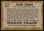 1958 Topps TV Westerns #50   Gun Fight  Back Thumbnail