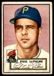 1952 Topps #166 CRM Paul LaPalme  Front Thumbnail