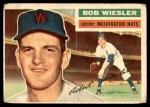 1956 Topps #327  Bob Wiesler  Front Thumbnail
