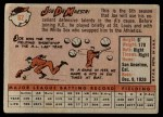 1958 Topps #62  Joe DeMaestri  Back Thumbnail