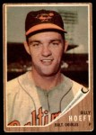 1962 Topps #134 GRN Billy Hoeft  Front Thumbnail