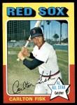 1975 Topps #80  Carlton Fisk  Front Thumbnail