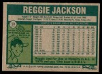 1977 Topps #10  Reggie Jackson  Back Thumbnail