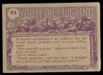 1959 Topps / Bubbles Inc You'll Die Laughing #51   If you want anything Back Thumbnail