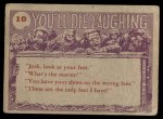 1959 Topps / Bubbles Inc You'll Die Laughing #10   So you really think Back Thumbnail