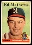 1958 Topps #440  Eddie Mathews  Front Thumbnail