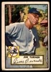 1952 Topps #373  Jim Turner  Front Thumbnail