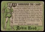 1957 Topps Robin Hood #22   Surround The Camp Back Thumbnail