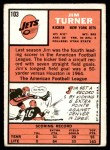 1966 Topps #103  Jim Turner  Back Thumbnail