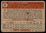 1952 Topps #30  Mel Parnell  Back Thumbnail