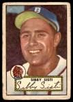 1952 Topps #293  Sibby Sisti  Front Thumbnail