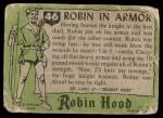 1957 Topps Robin Hood #46   Robin In Armor Back Thumbnail