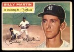 1956 Topps #181  Billy Martin  Front Thumbnail