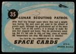 1957 Topps Space Cards #35   Lunar Scouting Patrol Back Thumbnail