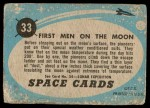 1957 Topps Space Cards #33   First Men on the Moon  Back Thumbnail