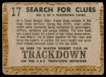 1958 Topps TV Westerns #17   Search for Clues  Back Thumbnail
