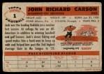 1956 Topps #1  Jack Carson  Back Thumbnail