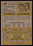 1974 Topps #420  Harold Jackson  Back Thumbnail
