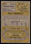 1974 Topps #431  Roy Gerela  Back Thumbnail