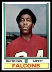 1974 Topps #514  Ray Brown   Front Thumbnail