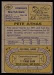 1974 Topps #494  Pete Athas  Back Thumbnail