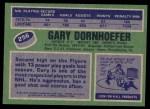 1976 Topps #256  Gary Dornhoefer  Back Thumbnail