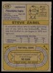 1974 Topps #428  Steve Zabel  Back Thumbnail