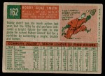 1959 Topps #162  Bobby Gene Smith  Back Thumbnail