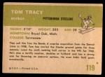 1961 Fleer #119  Tom Tracy  Back Thumbnail