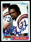 1981 Topps #304  Eddie Payton  Front Thumbnail