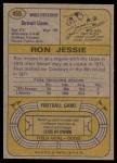 1974 Topps #469  Ron Jessie  Back Thumbnail