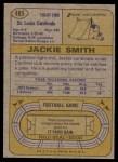 1974 Topps #485  Jackie Smith  Back Thumbnail