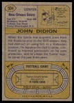 1974 Topps #504  John Didion  Back Thumbnail