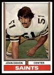 1974 Topps #504  John Didion  Front Thumbnail