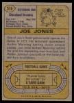 1974 Topps #516  Joe Jones   Back Thumbnail